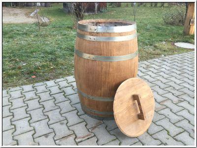 noderer holzfasshandel shop neues wasserfass aus kastanienholz mit deckel und hahn neues. Black Bedroom Furniture Sets. Home Design Ideas